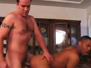Gays Enjoy Interracial Cock Stuffing
