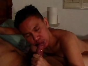 Cock Slurping Asian Gay