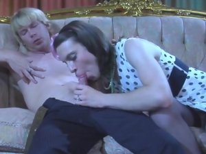 Owen and Silvester femaleclothed sissy on video