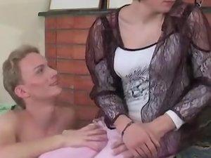 Randolph and Desmond cocksuking crossdresser on video