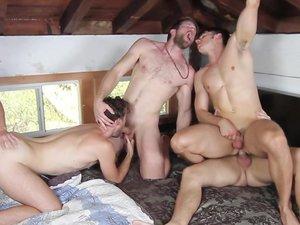 The Cult Part 3 - TRAILER- Addison Graham, Brandon Moore, Colby Keller, Roman todd and Will Braun - JO - Jizz Orgy