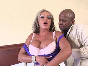 Big Titted Milf craves huge black cock