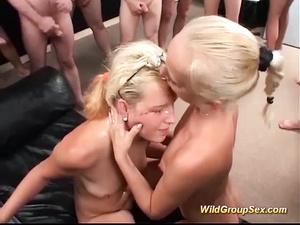 german girls in a wild groupsex orgy