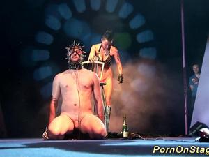 extreme fetish porn on public stage