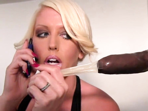 Alura Jenson takes anonymous black coco in her mouth