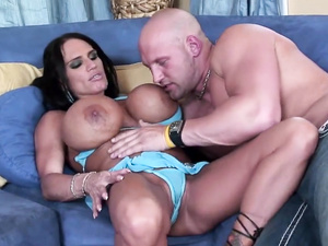 Huge bombed brunette penetrated
