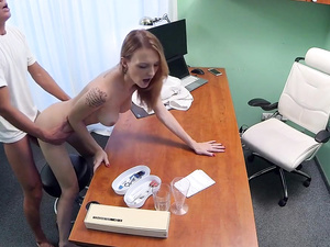 Hot Czech patient craves hard cock