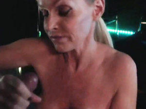 Busty Blonde Pornstar Milf Fucked In Disco Club