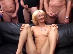 my moms first gangbang orgy