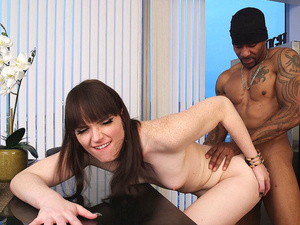 Shemale Natalie Mars Interracial Bareback Anal