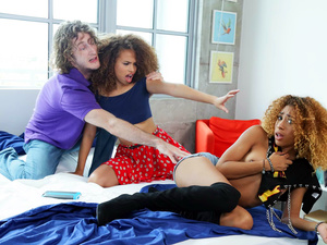 Share My BF – Interracial Threesome Surprise