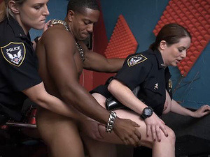 Female Cops With Massive Tits And Butts Fuck Black Dude In Steamy Threesome