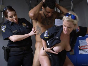 Black Guy With Big Cock Is Forced To Make Two Corrupted Female Cops Achieve Real Orgasms