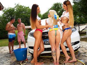 Euro Sex Parties – Euro Boob Wash