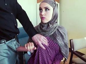 Arabian milf gets her tight pussy banged hard