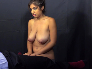 Fucking Glasses - Ella Knox - Busty and hairy cutie fuck POV