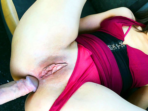 Fake Hub – Sexy petite brunette does anal