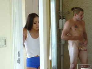 Bubble butt Karissa Kane fucks her stepbros friend for creampie