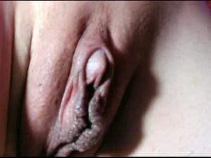 Big clit pussy close up on a web camera