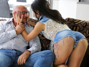 Rough sex for stunning latina babe