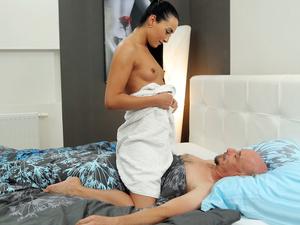 Hot sex after a hot bath