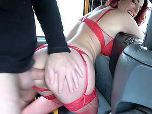 Lady fits wine bottle up her pussy
