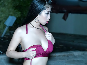 Smoking Hot Asian Babe Caught Swimming Topless
