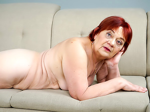 Redheaded Granny Wants Some Cock