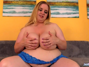 Big Boob Plumper Nikky Wilder Rubs Her Pussy Before Taking a Hard Fucking