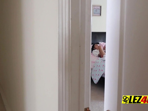 Stepmom finds her teen masturbating and decides to lend a helping hand