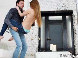 Long Haired Redhead Melissa Benz Gets Her Pussy Plunged with a Stiff Cock