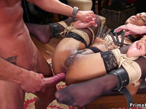 Slaves orgy anal fucking party