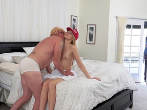 Alexa Grace tight pink pussy gets banged