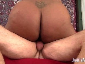 Black BBW Marliese Morgan Has Her Pussy Popped by a White Dick