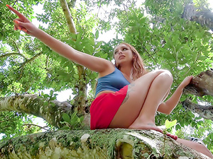 Girl On Treetop