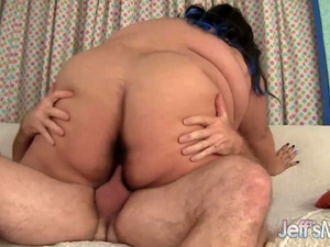 Ultra Fat Babe Sugar BBW Is Energetically Fucked by a Horny Older Guy