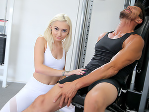 Step Dad Gives Step Daughter Pussy Work Out