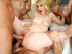 Fisting In Gia's 1st DP and DAP Gangbang, Scene #01