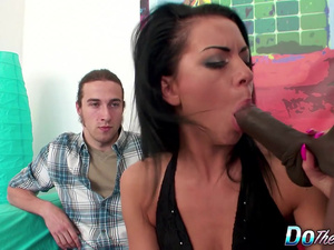 Wimp Ass Husband Spectates as His Wife Inga Devil Gets Banged by a Black
