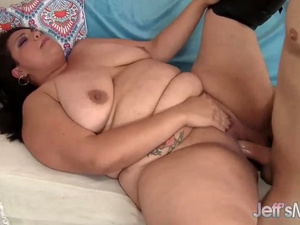 BBW lady Angelina gets pussy drilled