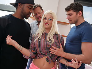 Blanche's Interracial Double-Anal Fuck