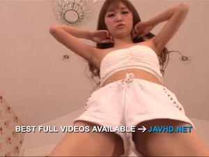 Mikuru Shiina provides Asian blowjob before a fuck  - More at javhd.net