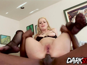 Perfect ass babe Anita Blue gets her ass worshipped and fucked by BBC
