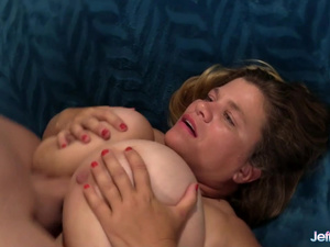 Fat Haley Jane Pleasures a Long Cock with Her Big Tits and Hairy Pussy