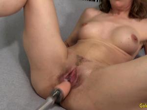 An Orgasmic Machine Fucking for Slutty Granny Babe Morgan