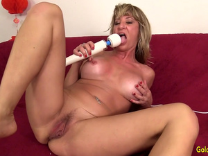 Naughty Mature Sky Haven Stimulates Her Lustful Holes with Sexy Toys