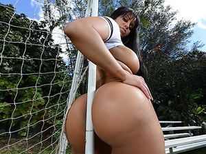 Between Her Goalposts