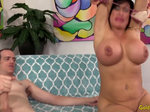 Big Tits Mature Sheila Marie Licked and Dicked by a Skinny Guy