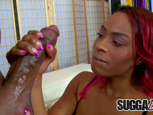 Busty Black Hottie Tori Taylor Earns Her Facial After Riding His BBC