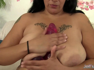 Fat MILF Savannah Star Plays with Dildo and Vibrator till Orgasm
